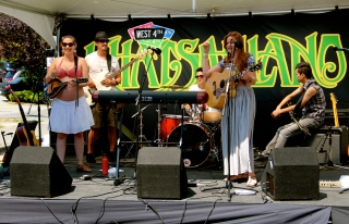 The whole band at Khatsalano music festival w/Jess Cullen, July 13/13